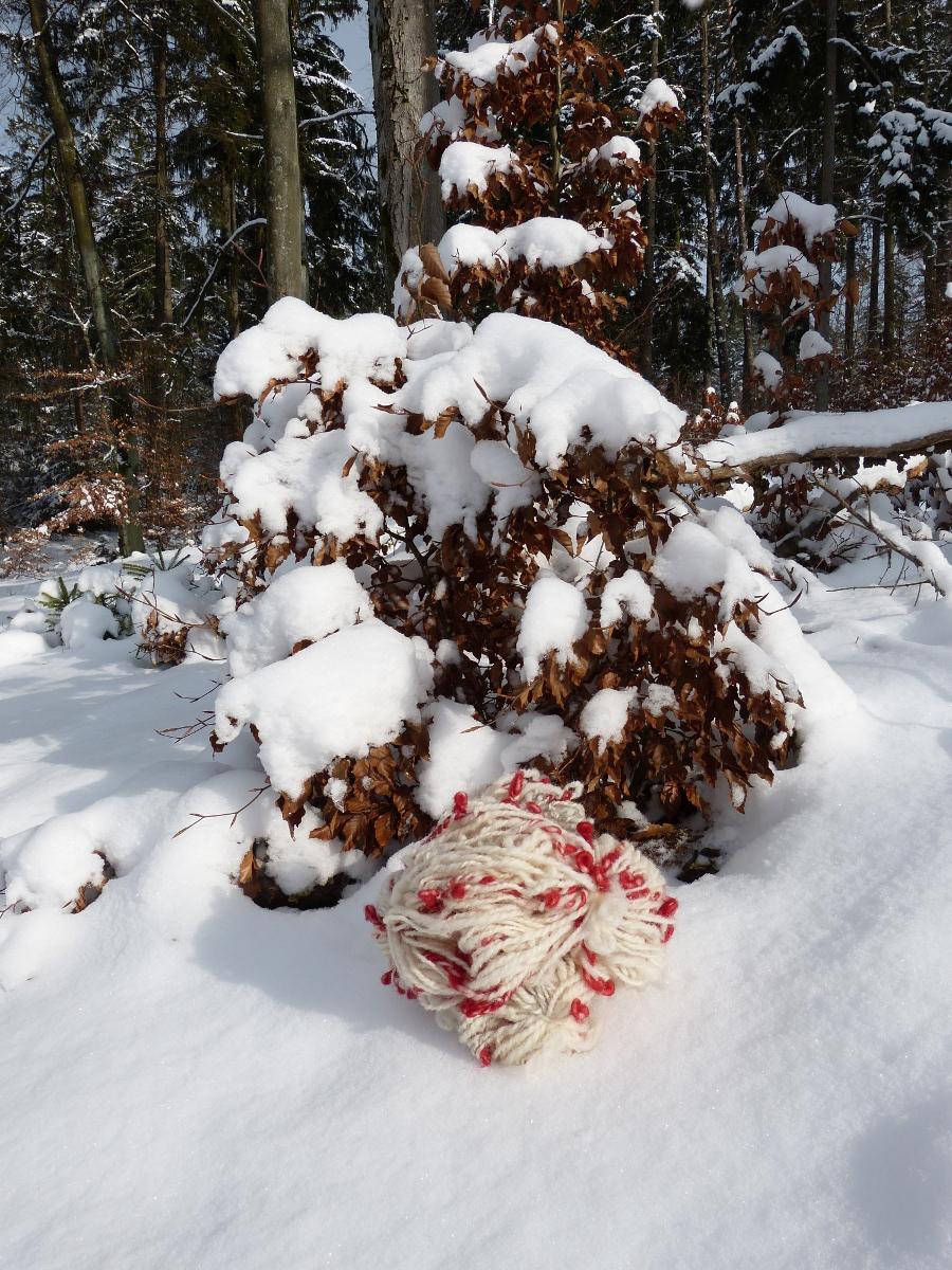 Art Yarn im Schnee